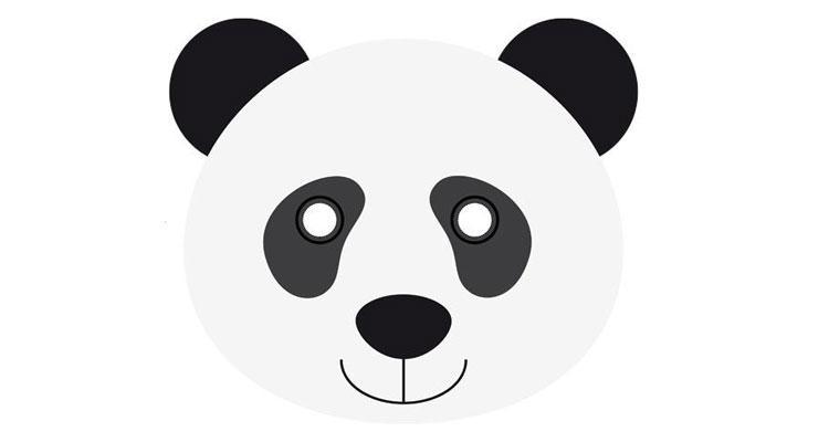 mascara panda DIY